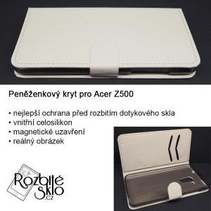 Acer-Z500-Peněženkový-obal-bilý