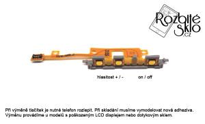 SONY Z1 compact výměna flexkabelu tlačítek hlasitosti