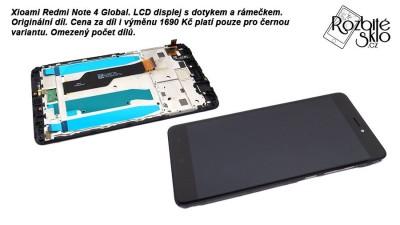 Xiaomi REdmi Note 4 Global LCD s dotykem a ramečkem černa