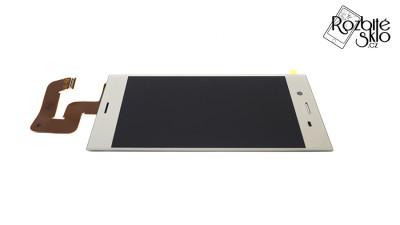 SONY-XZ1-LCD-displej-s-dotykem-stribrny